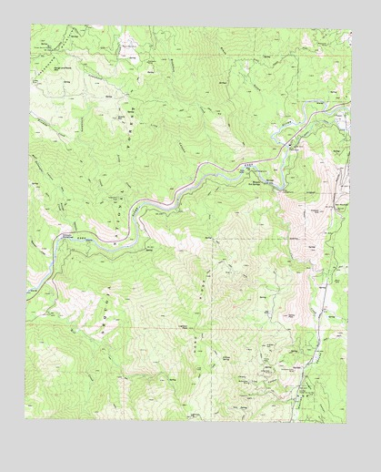 Miracle Hot Springs, CA USGS Topographic Map