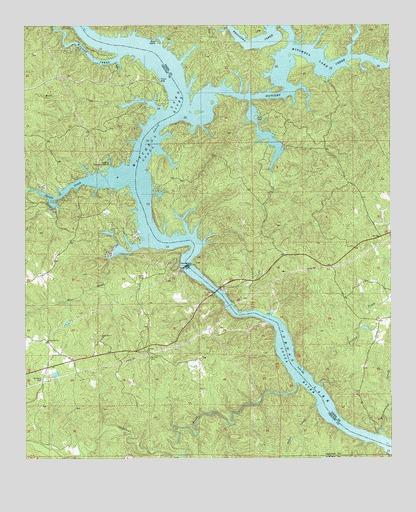 Mitchell Dam AL Topographic Map  TopoQuest