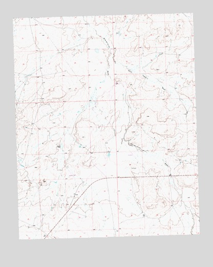 Becenti Lake, NM USGS Topographic Map
