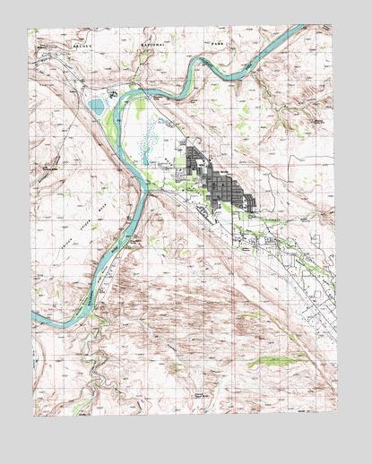 Moab, UT Topographic Map - TopoQuest