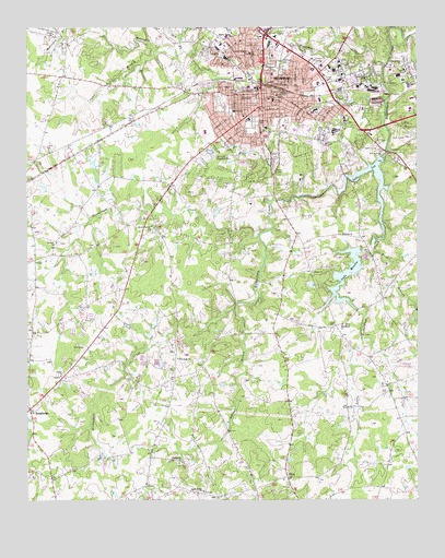 Monroe, NC USGS Topographic Map