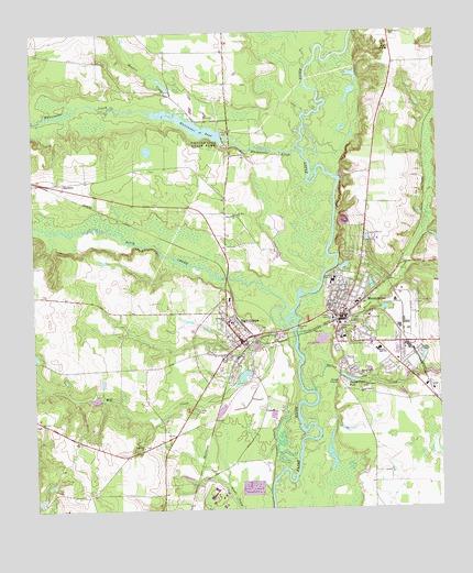 Montezuma GA Topographic Map TopoQuest - Georgia topographic map