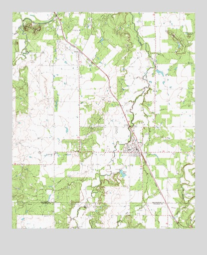 Language In 45 And 47 Stella Street: Moran, TX Topographic Map