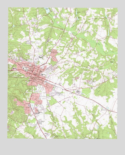 Aiken, SC USGS Topographic Map