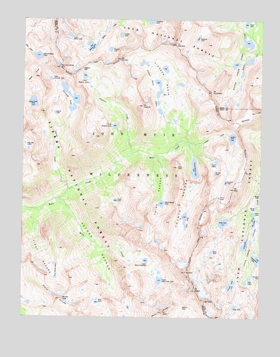 Mount Abbot, CA USGS Topographic Map