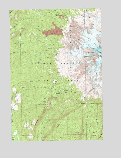 Mt Adams Washington Map.Mount Adams West Wa Topographic Map Topoquest