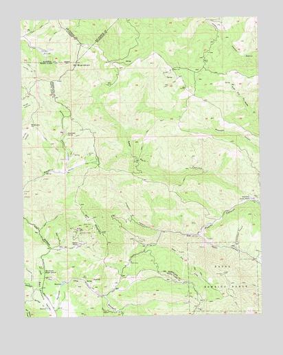 Mount Boardman, CA USGS Topographic Map