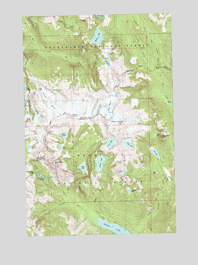 Mount Daniel, WA USGS Topographic Map