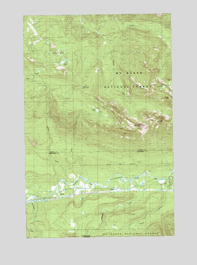 Mount Higgins, WA USGS Topographic Map