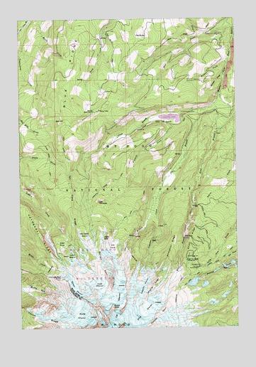 Mount Hood North, OR USGS Topographic Map