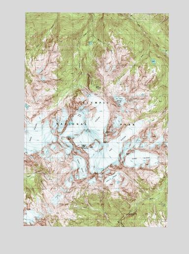 Mount Olympus WA Topographic Map TopoQuest - Olympus map