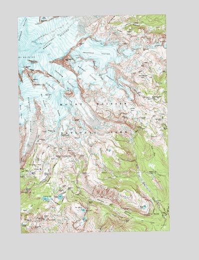 Mt Rainier Topographic Map.Mount Rainier East Wa Topographic Map Topoquest