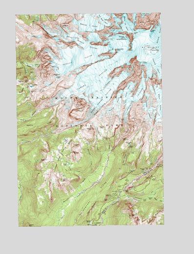 Mt Rainier Topographic Map.Mount Rainier West Wa Topographic Map Topoquest