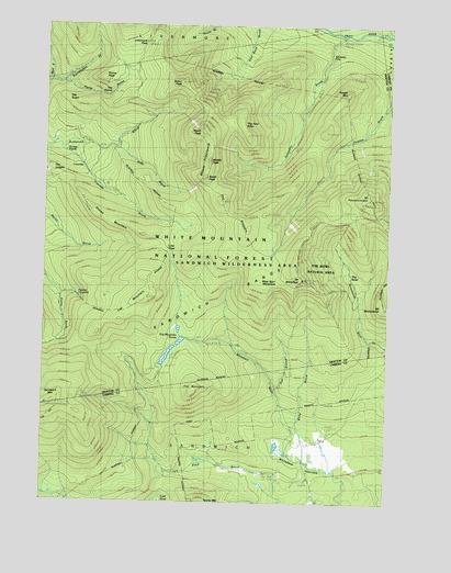 Mount Tripyramid, NH USGS Topographic Map