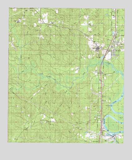 Mount Vernon, AL USGS Topographic Map