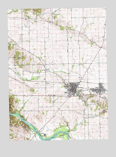 mount vernon iowa map Mount Vernon Ia Topographic Map Topoquest mount vernon iowa map