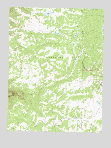 Mount Werner, CO USGS Topographic Map