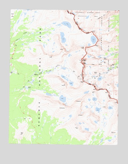 Mount Whitney, CA USGS Topographic Map