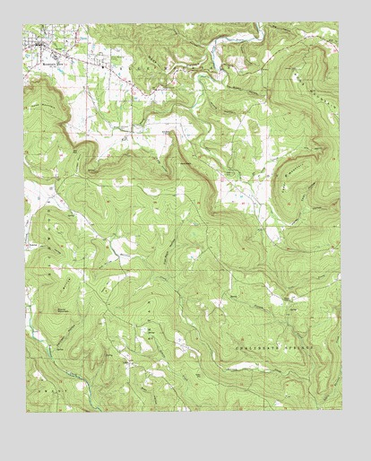 Mountain View Ar Topographic Map Topoquest
