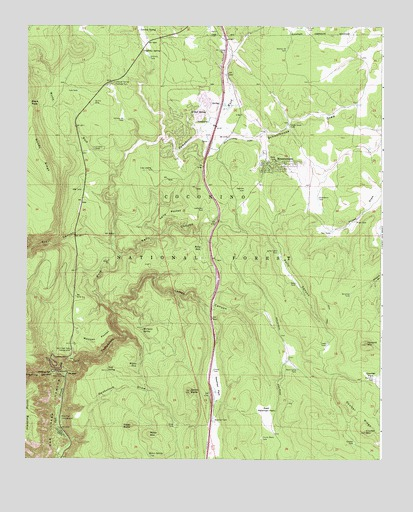 Mountainaire AZ Topographic Map TopoQuest - Arizona topographic map