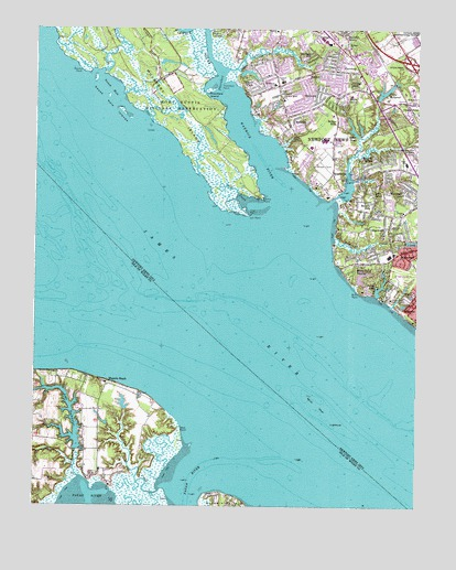 Mulberry Island, VA USGS Topographic Map