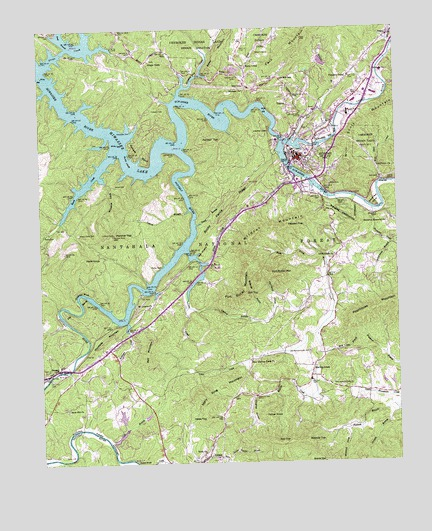 Murphy NC Topographic Map TopoQuest - North carolina topographic map