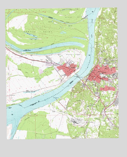 Topographic Map Mississippi.Natchez Ms Topographic Map Topoquest