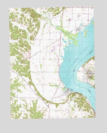 Nauvoo Il Topographic Map Topoquest