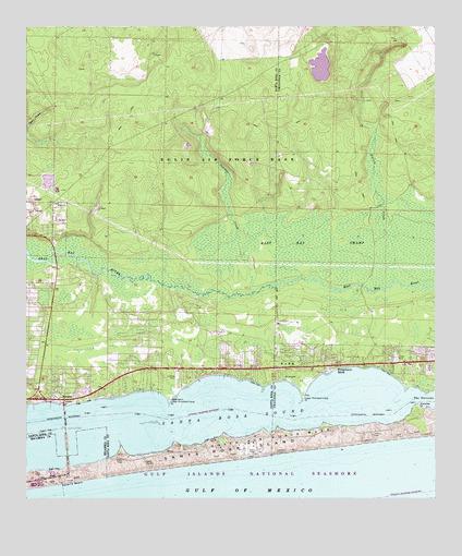 Detail Map Of Florida.Navarre Fl Topographic Map Topoquest