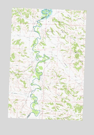 Nelson Coulee, MT USGS Topographic Map