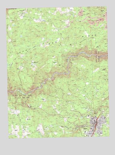 Nevada City CA Topographic Map TopoQuest - Nevada city map