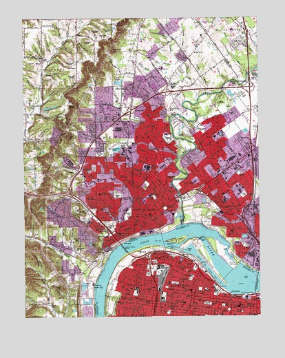 New Albany, IN USGS Topographic Map