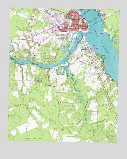 New Bern Nc Topographic Map Topoquest