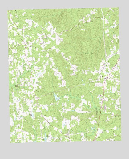 New Georgia, GA USGS Topographic Map