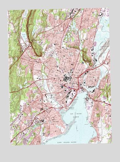 Topographic Map Ct.New Haven Ct Topographic Map Topoquest
