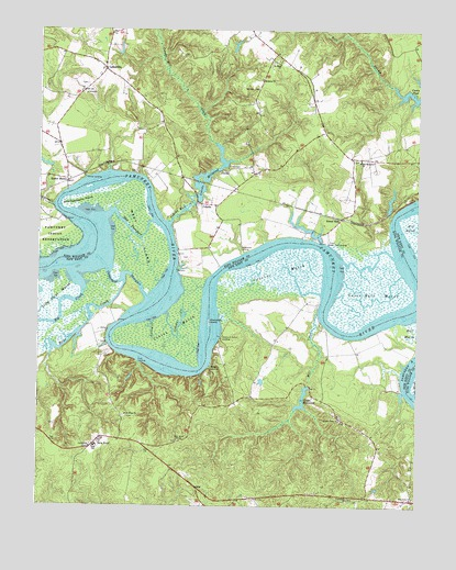 New Kent, VA USGS Topographic Map