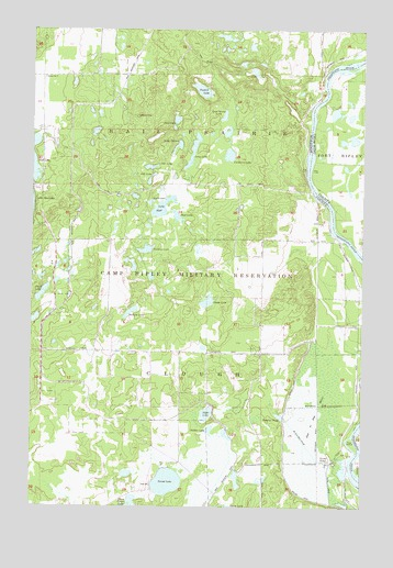 Belle Prairie NW, MN USGS Topographic Map