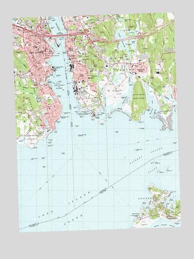 Topographic Map London.New London Ct Topographic Map Topoquest