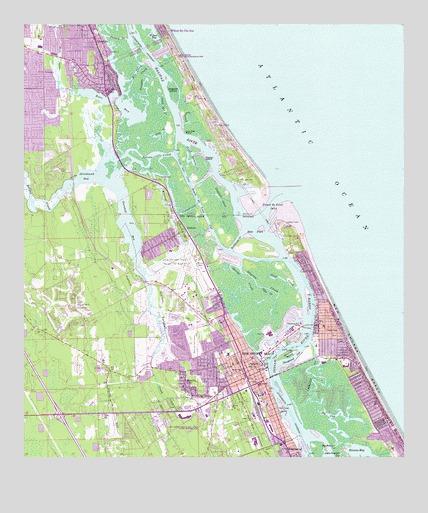 Topo Map Florida.New Smyrna Beach Fl Topographic Map Topoquest