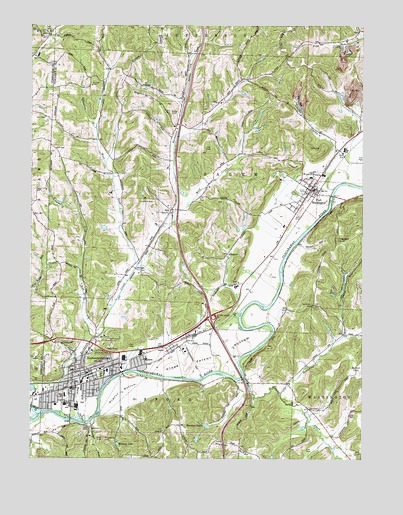 Newcomerstown Ohio Map.Newcomerstown Oh Topographic Map Topoquest
