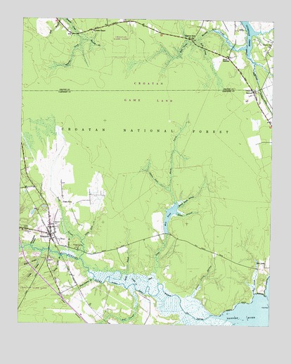 Newport Nc Topographic Map Topoquest