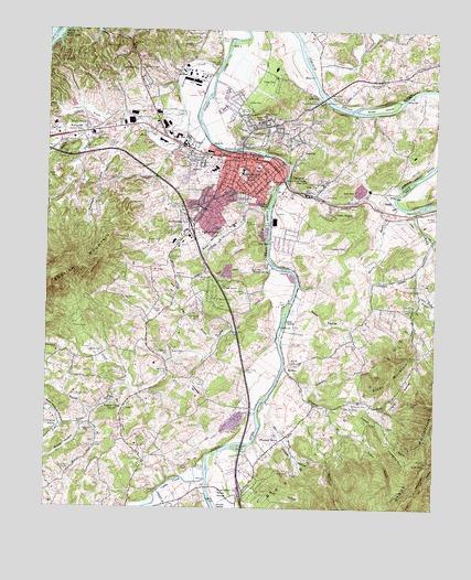 Newport Tn Topographic Map Topoquest