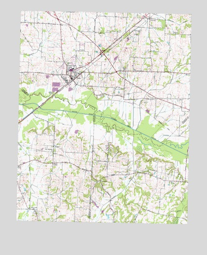 Bells Tennessee Map.Bells Tn Topographic Map Topoquest