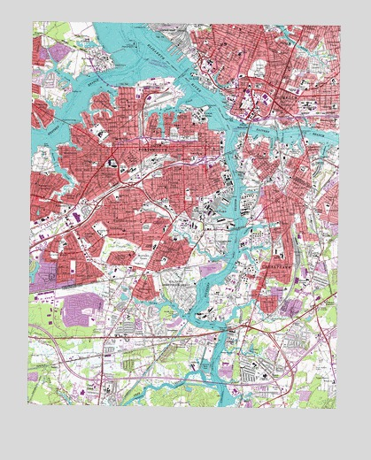 Norfolk South, VA Topographic Map - TopoQuest