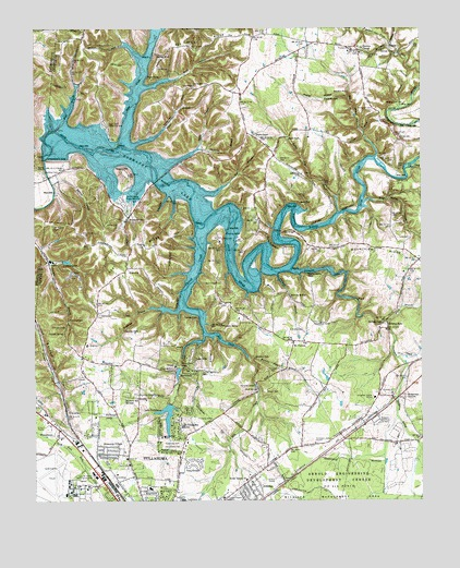 Normandy Lake TN Topographic Map TopoQuest - Tn lakes map