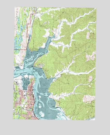 north bend oregon map North Bend Or Topographic Map Topoquest north bend oregon map