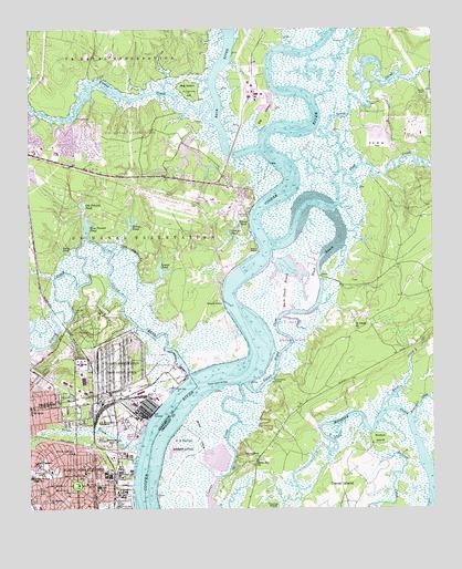 North Charleston, SC Topographic Map   TopoQuest