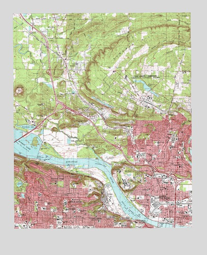 North Little Rock, AR Topographic Map - TopoQuest