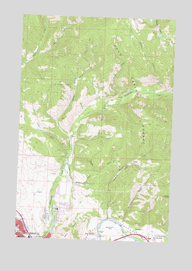 Northeast Missoula Mt Topographic Map Topoquest