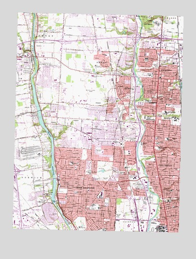 Northwest Columbus, OH Topographic Map   TopoQuest